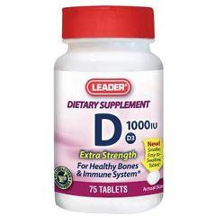 Cardinal Health Leader Vitamin D3 Tablets