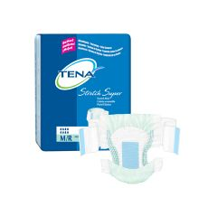 TENA Green Super Stretch Adult Diapers - Super Absorbency