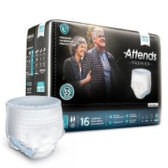 Attends® Premier Incontinence Underwear - Premium Overnight Protection