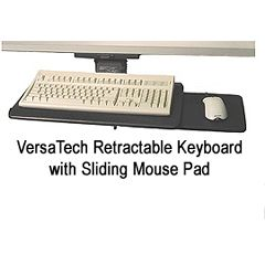 AliMed VersaTech Retractable KeyboardTray with Sliding Mouse Pad
