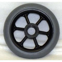 "New Solutions 6 Spoke Molded Tire Wheel - 5 x 1"""