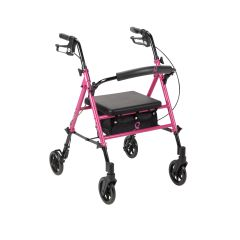 Drive Breast Cancer Awareness Adjustable Height Pink Rollator