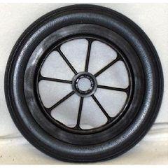 "New Solutions 8 Spoke Urethane Round Wheel - 8 x 1 1/4"""