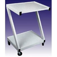 Ideal Steel 2 Shelf Cart - White