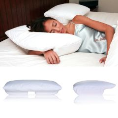 Deluxe Comfort Better Sleep Pillow- Petite With Cream Velour Cover