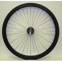 """New Solutions 25 x 1"""" Metal Spoke Wheel - 3"""" Hub"""