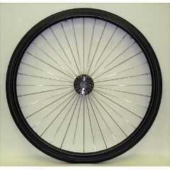 "25 x 1"" Metal Spoke Wheel - 3"" Hub"
