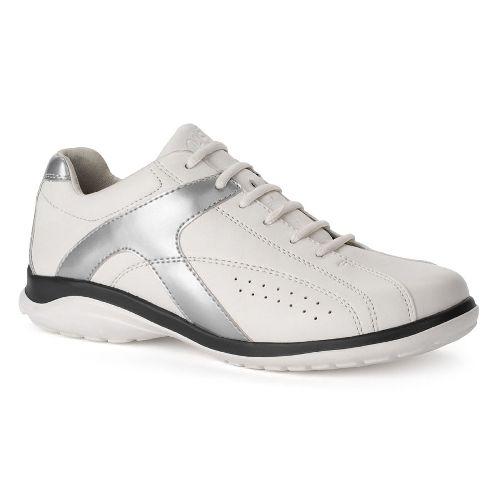 Oasis Footwear Oasis Women's Chrissie White/Silver Diabetic Shoe