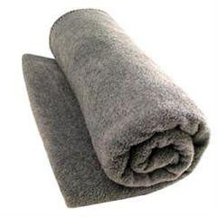 """Washable Wool Woven Blanket Gray 66"""" X 84"""""""