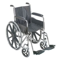 "DMI 18"" Wheelchair with Fixed Armrests"