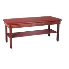 Plain Treatment Table with Upholstered Shelf