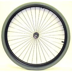 "New Solutions 24 x 1"" Metal Spoke Wheel - 2"" Hub"