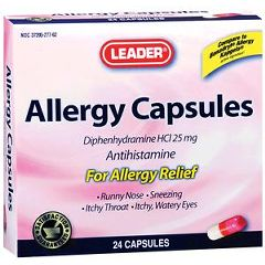 Cardinal Health Leader Complete Allergy Relief Capsules