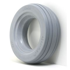 """New Solutions Urethane 4 Rib Tire 6"""" X 2"""" Fits Most 2-Piece Wheels"""