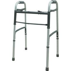 Cardinal Health Deluxe 2 Button Folding Walker