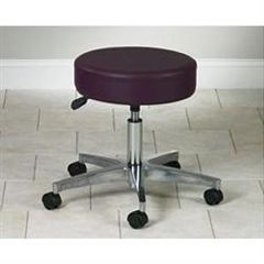 "Clinton Industries 5 Leg Pneumatic Stool With Backrest 19.5""-24.5""H"