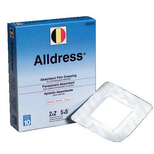 """Alldress Absorbent Film Dressing - 6 x 8"""", (4 x 6 pad) Model 730 0621"""