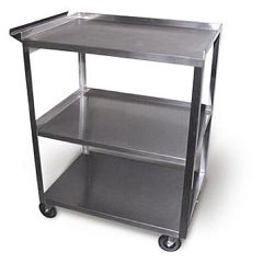 Ideal Medical Products Stainless Steel Cart Model Mc311 - 3 Shelf With Handle