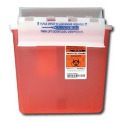 SharpStar In-Room Sharps Containers with Counter Balanced Lid - 5qt
