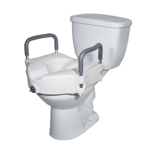Drive 2 in 1 Locking Elevated Toilet Seat with Tool-Free Removable Arms Model 178 0218