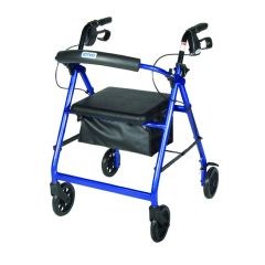 "Drive Aluminum Rollator Walker with 6"" Wheels & Padded Seat"