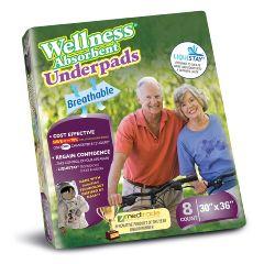 "Unique Wellness® Absorbent Underpad, 30"" x 36"""