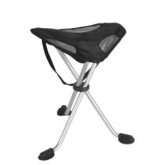 Travelchair On Site Therapist Stool Without Back, XL Black