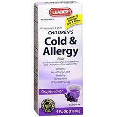 Cardinal Health Leader Cold and Allergy Elixir