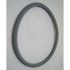 "Light Grey Urethane Street Tire - 24 x 1 3/8"""