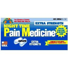 Night Time Pain Medicine and Sleep Aid
