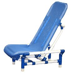 Reclining Bath Chair With Safety Harness, Large To 180 Lb.