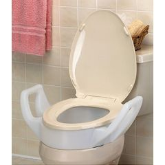 Bolt-On Elevated Toilet Seat with Arms - 4""
