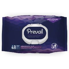"Prevail Premium Quilted Washcloths with Lotion - Soft Pack Press Open Lid, 12"" x 8"""