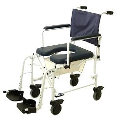 "Invacare Mariner Rehab Shower Commode Chair - 18"" Seat and 5"" Swivel Casters"