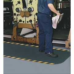 Hog Heaven Anti-Fatigue Matting Hog Heaven Anti-Fatigue Matting 3' x 12' Black w/ striped yellow border.