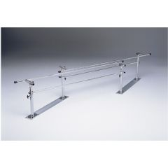 Parallel Bars, Steel Base, Folding, Height And Width Adjustable, 7 Foot Long