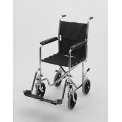 Invacare Supply Group Lightweight 19in Transport Chair with Hammer Tone Finish