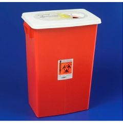 Kendall 12 Gallon Red Container with Sliding Lid