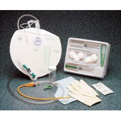 Bard Center-Entry Foley Cath Tray with Drain Bag - Anti-Reflux Chamber