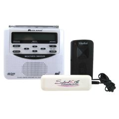 Silent Call Communications Midland Weather Alert Radio with Silent Call Bed Shaker