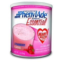 PhenylAde Essential Drink Mix - Strawberry 16oz Powder