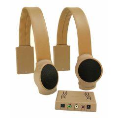 Audio Fox Tan TV Listening Speaker System