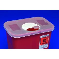 Kendall 2 Qt Multi-Purpose Sharps Container - Rotor Opening Lid
