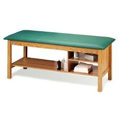 Hausmann® Treatment Table with Multiple Shelves Oak Brown