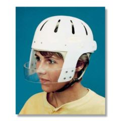 Sammons Preston Hard Shell Helmet with Face Bar. Tan Foam Liner