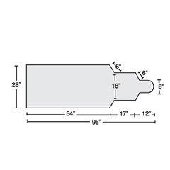 "AliMed GE LU Tablepad, 1.5"" T-Foam"