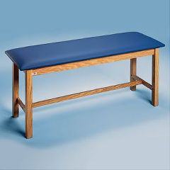 "Sammons Preston Upholstered Treatment Tables Standard H-Brace Treatment Table 72""L x 30""W x 31""H Oak Brown"