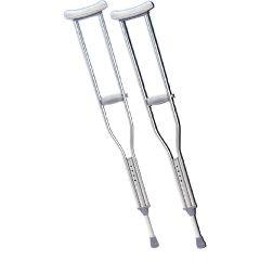 Underarm Adjustable Aluminum Crutch
