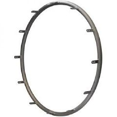 "Invacare Handrims Non-Projection Anodized Aluminum for 7PT 24"" Wheel"