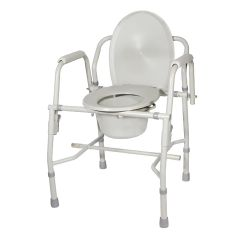 Drive Deluxe Steel Drop Arm Commode